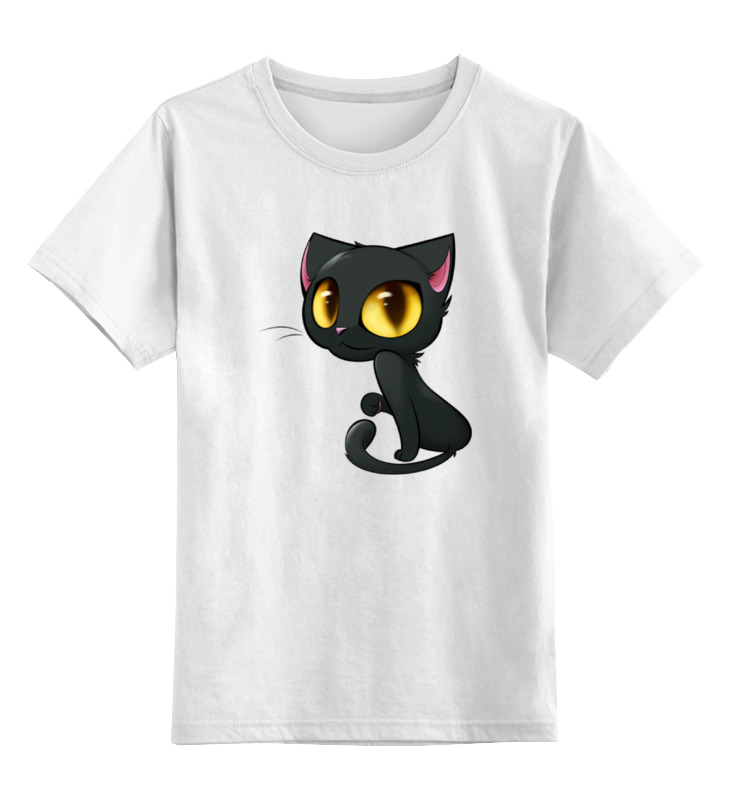 Детская футболка классическая унисекс Printio Кошка с большими глазами футболка классическая printio девушка с завязанными глазами