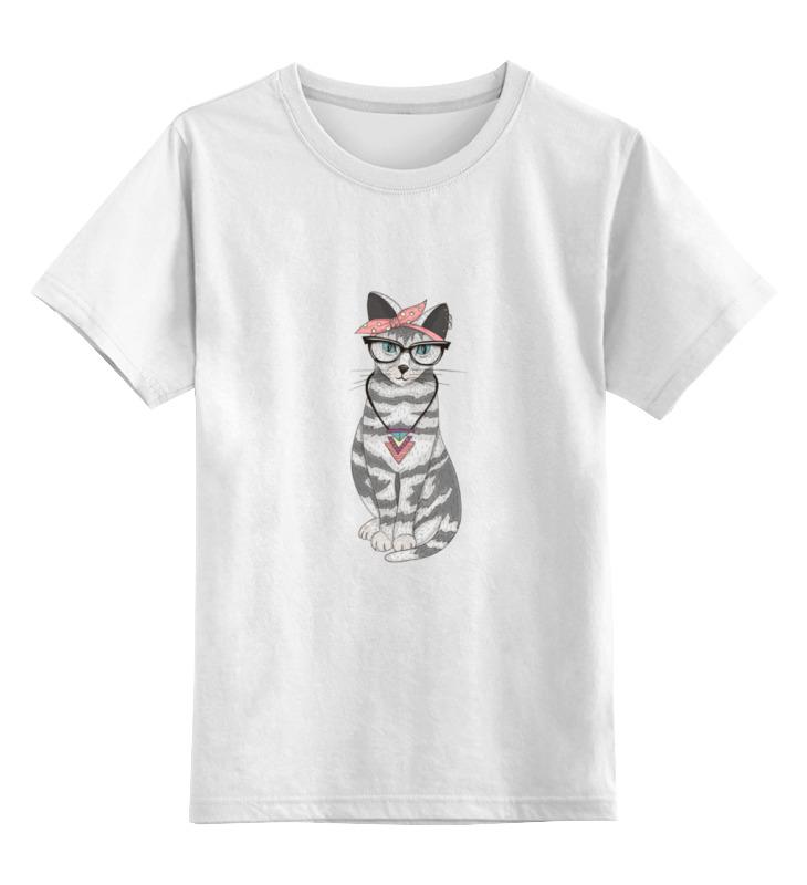 Детская футболка классическая унисекс Printio Gansta cat