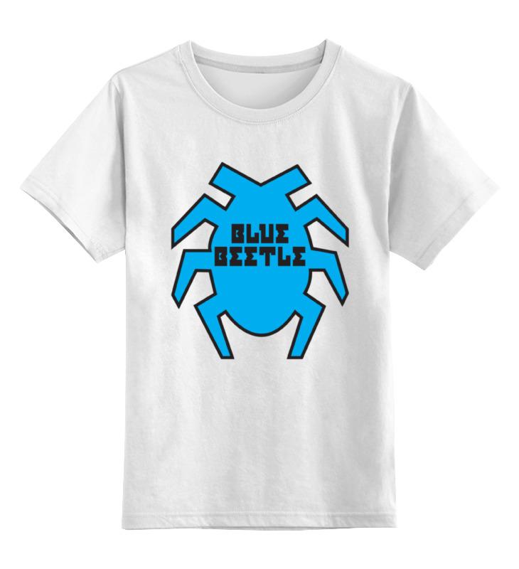 Детская футболка классическая унисекс Printio Синий жук