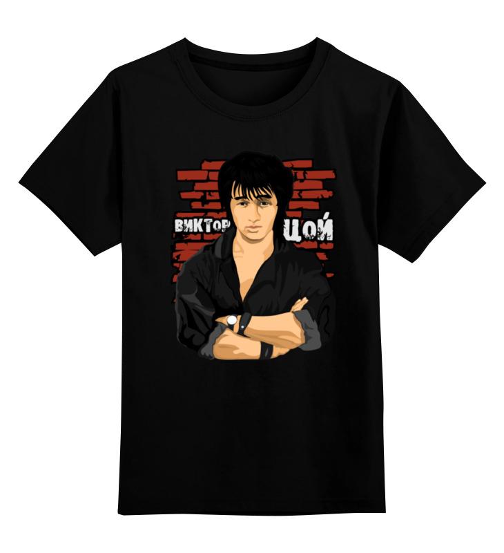 Детская футболка классическая унисекс Printio Виктор цой цена и фото