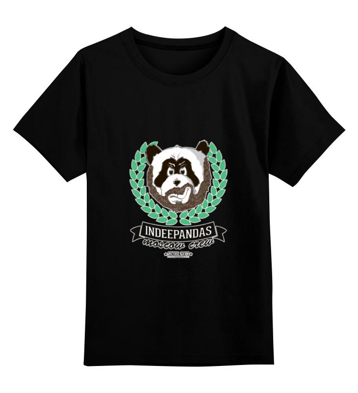 Детская футболка классическая унисекс Printio Indeepandas moscow crew hoodie цена и фото