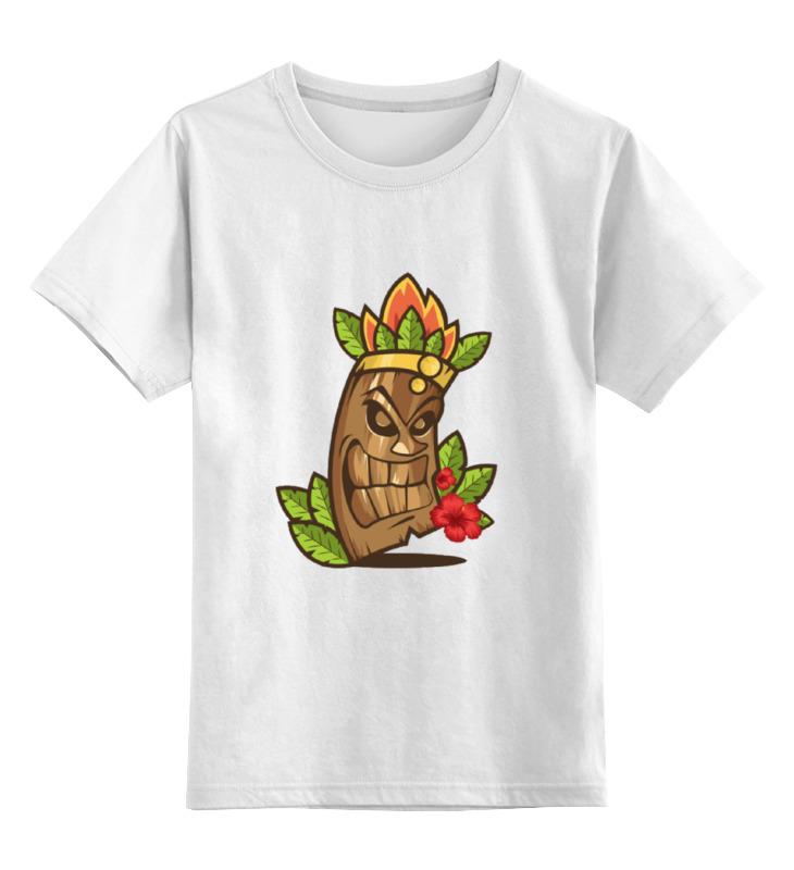 Детская футболка классическая унисекс Printio Маска тики
