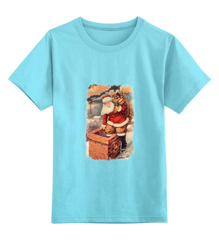 Детская футболка классическая унисекс Printio Дед мороз в трубе