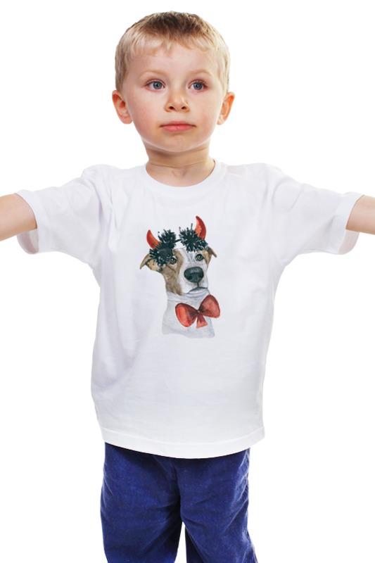 Детская футболка классическая унисекс Printio Джек рассел терьер щенок джек рассел терьер в ростове