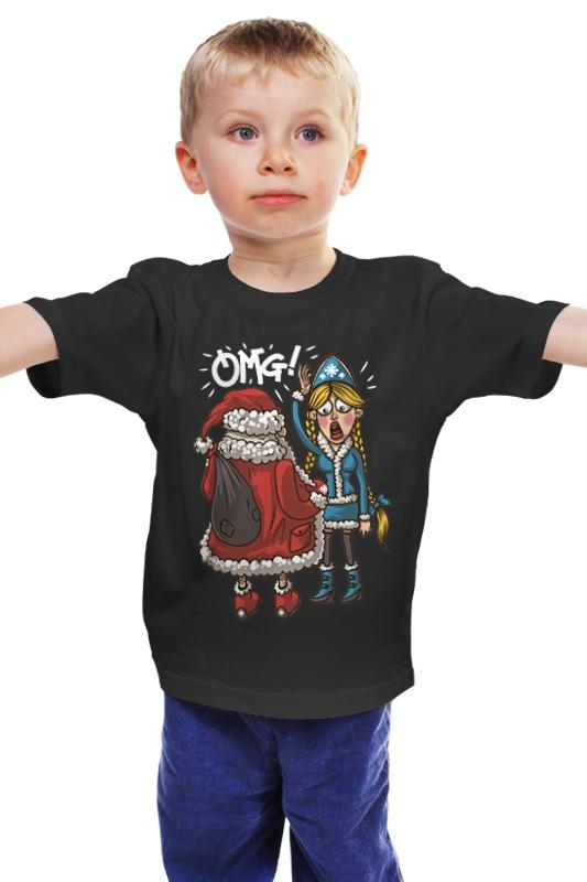 Детская футболка классическая унисекс Printio Новогодний сюрприз футболка для беременных printio сюрприз