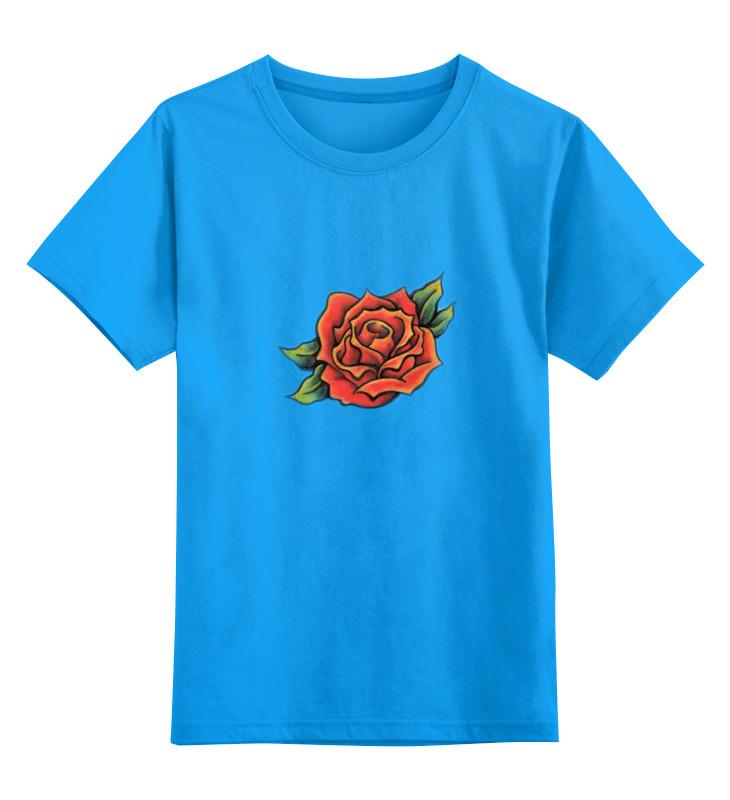 Детская футболка классическая унисекс Printio Tattoo rose rose tattoo rose tattoo scarred for life 180 gr