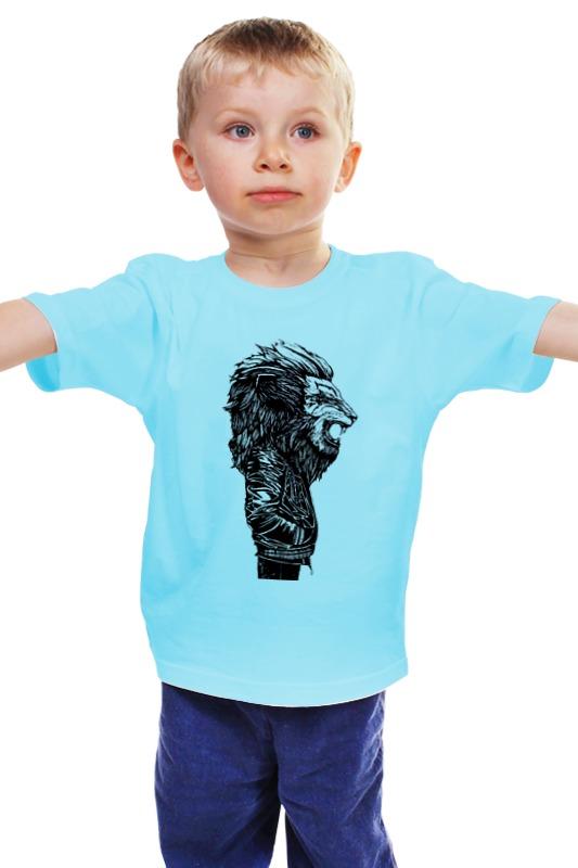 Детская футболка классическая унисекс Printio Лев в куртке детская футболка классическая унисекс printio лев