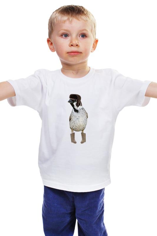 Детская футболка классическая унисекс Printio Русский воробей