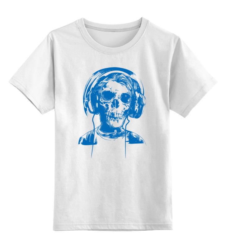 Детская футболка классическая унисекс Printio I love music (череп в наушниках) толстовка wearcraft premium унисекс printio i love music череп в наушниках