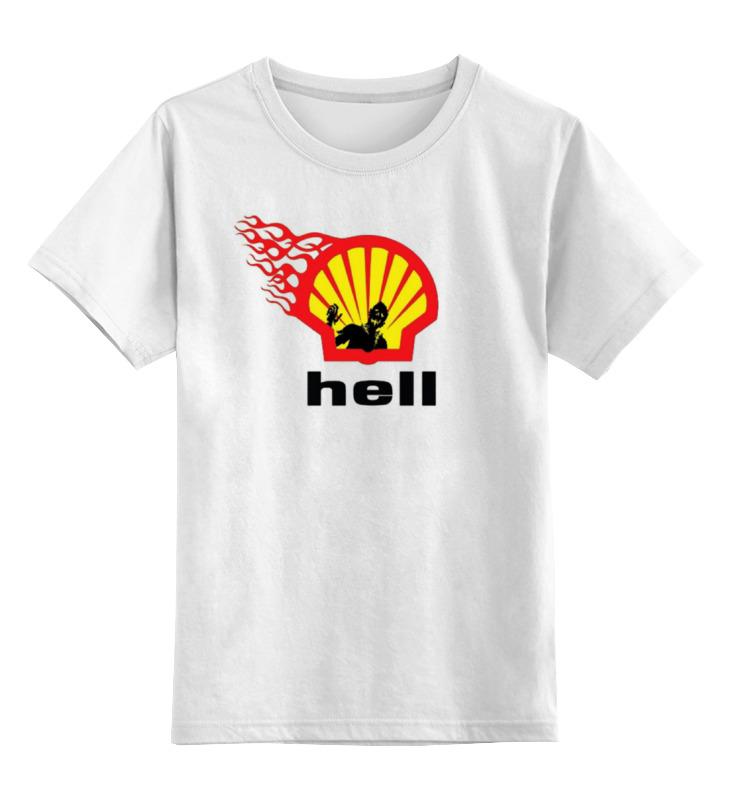 Детская футболка классическая унисекс Printio Shell/hell