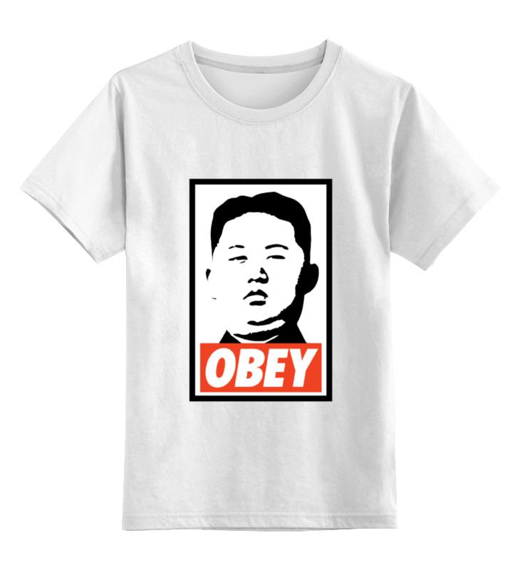 Детская футболка классическая унисекс Printio Подчинись (obey) детская футболка классическая унисекс printio starbucks obey