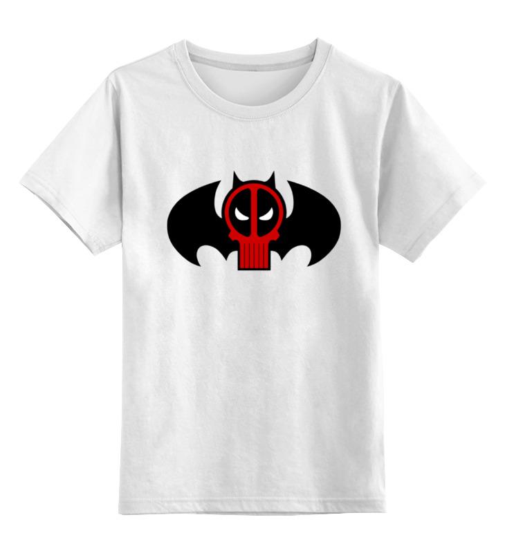 Детская футболка классическая унисекс Printio Deadpool x batman лонгслив printio ice king x batman