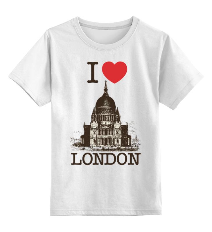 Детская футболка классическая унисекс Printio I love london детская футболка классическая унисекс printio i love js