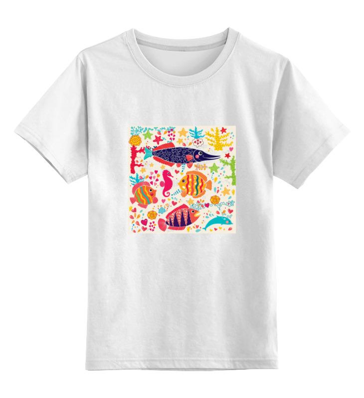 Детская футболка классическая унисекс Printio Обитатели моря 2 футболка классическая printio 62 2% в саратове
