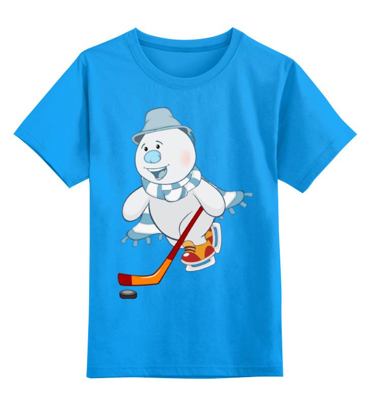 Детская футболка классическая унисекс Printio Снеговик шар снеговик на коньках 10 см