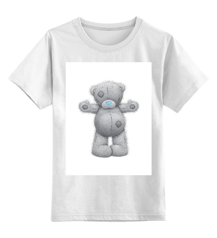 Детская футболка классическая унисекс Printio Мишка тедди футболка для беременных printio мишка me to you