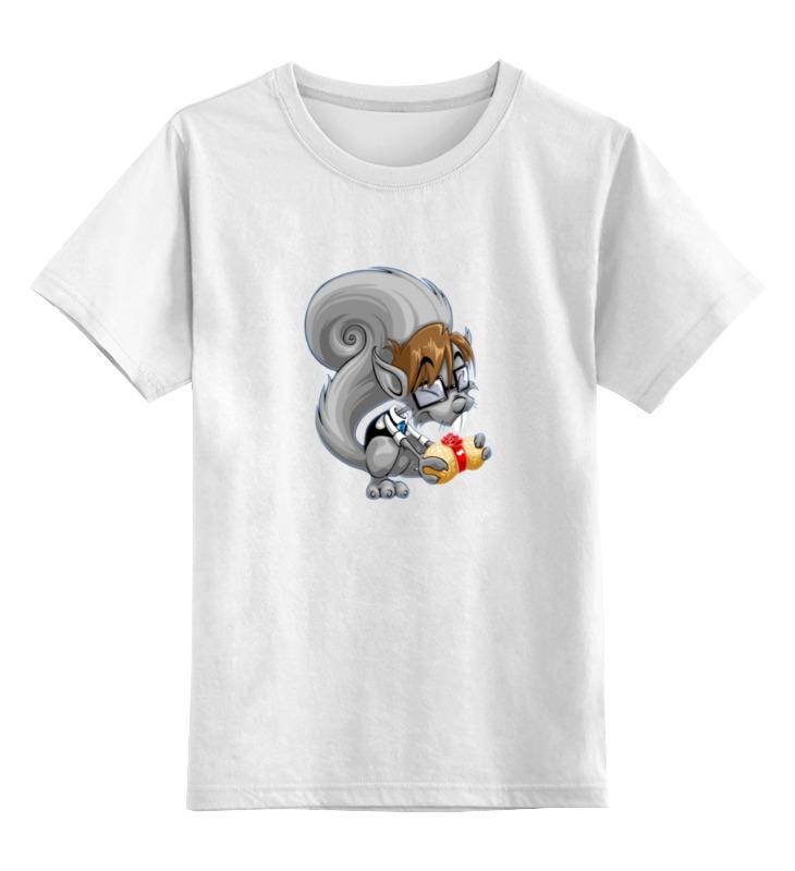 Детская футболка классическая унисекс Printio Белка с орехом футболка классическая printio белка с орехом