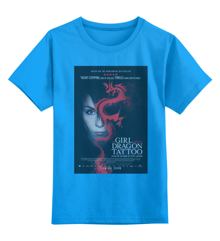 Детская футболка классическая унисекс Printio Девушка с татуировкой дракона цена