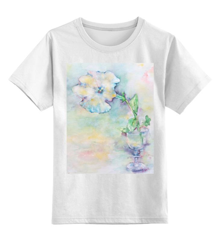 Детская футболка классическая унисекс Printio Белая мальва футболка классическая printio муравьед с цветами
