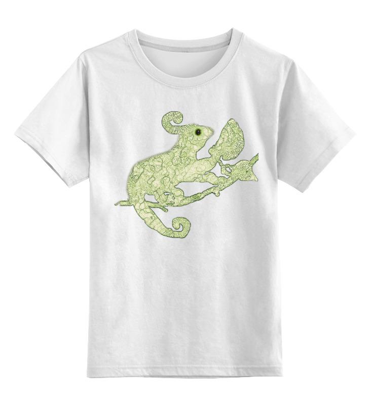 Детская футболка классическая унисекс Printio Хамелеоны