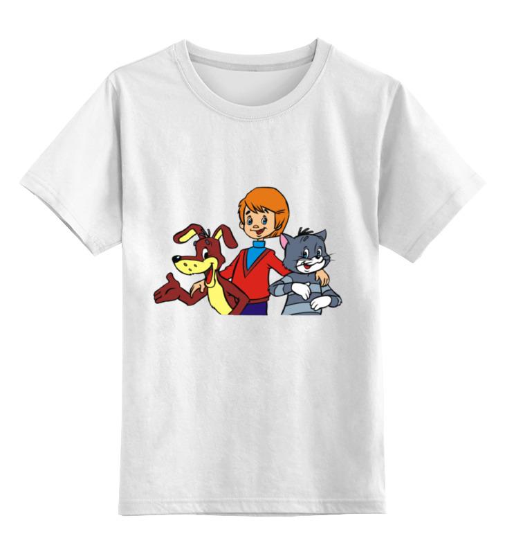 цена Детская футболка классическая унисекс Printio Каникулы в простоквашино