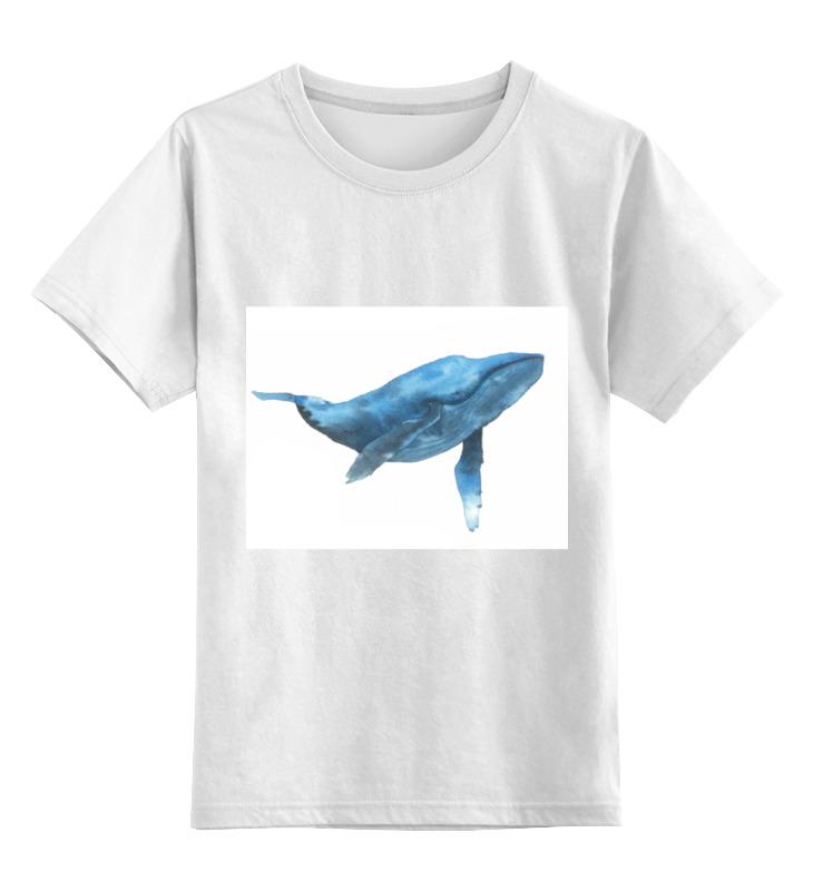 Детская футболка классическая унисекс Printio Синий кит цена