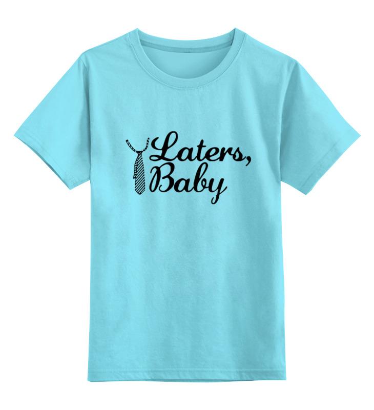 Детская футболка классическая унисекс Printio Laters, baby (50 оттенков серого) футболка классическая printio keep calm until laters baby 50 оттенков серого
