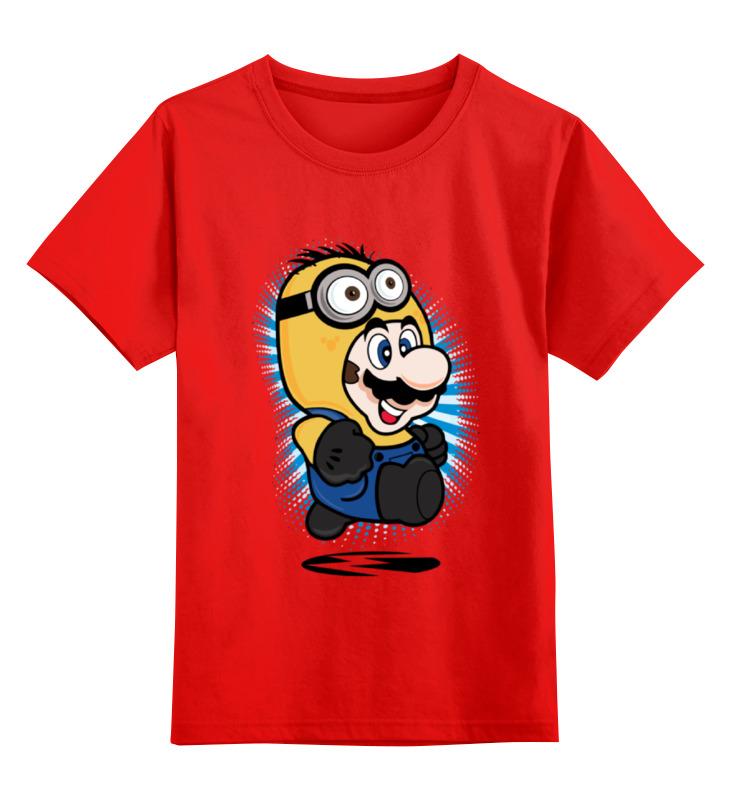 Детская футболка классическая унисекс Printio Mario minion smoby детская горка king size цвет красный