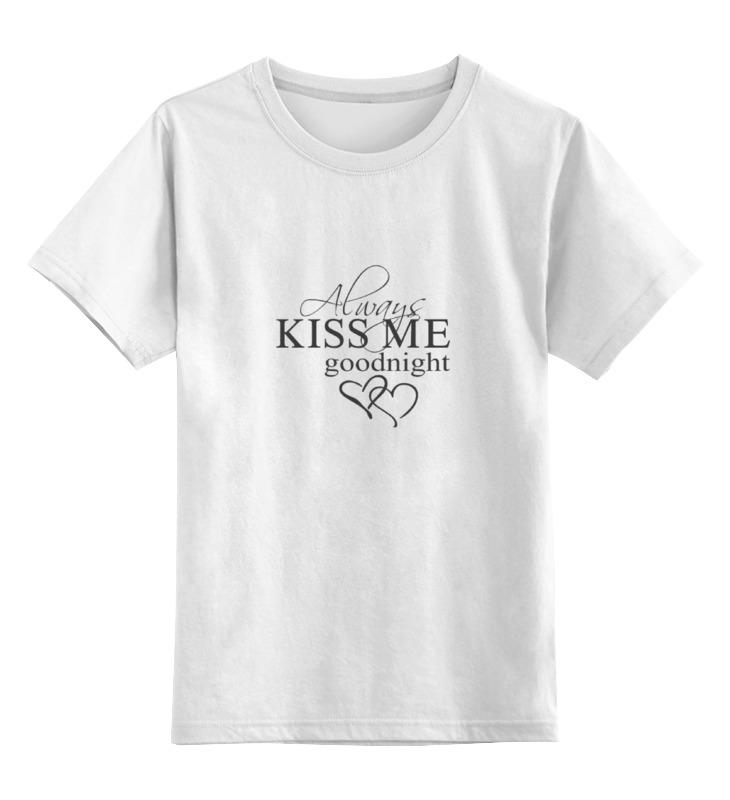 Детская футболка классическая унисекс Printio Всегда целуй меня на ночь цена
