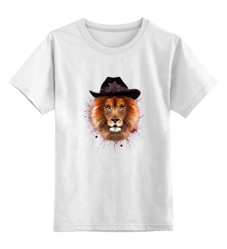 Детская футболка классическая унисекс Printio Шериф цена
