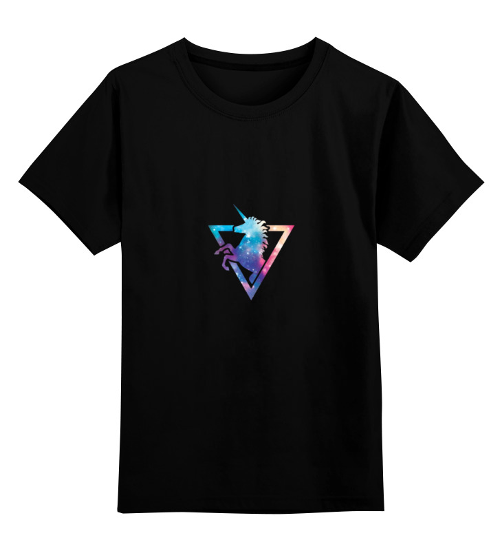 Детская футболка классическая унисекс Printio Космический единорог