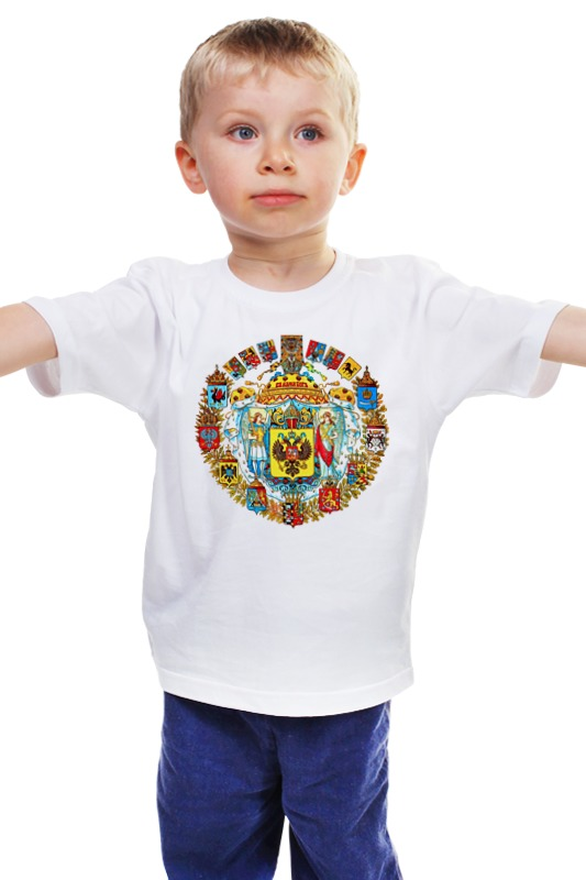 Детская футболка классическая унисекс Printio Герб