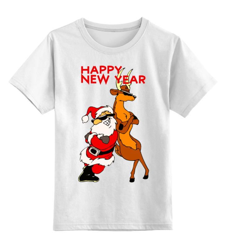 Детская футболка классическая унисекс Printio Happy new year new original kf5001 warranty for two year