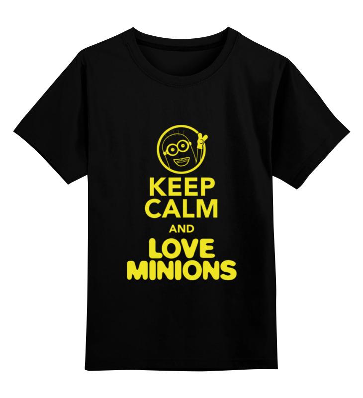 Детская футболка классическая унисекс Printio Love minions детская футболка классическая унисекс printio i love you beary much