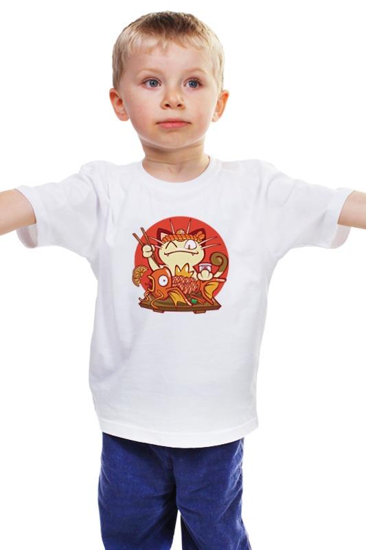 Детская футболка классическая унисекс Printio Кот и золотая рыбка лонгслив printio кот и золотая рыбка