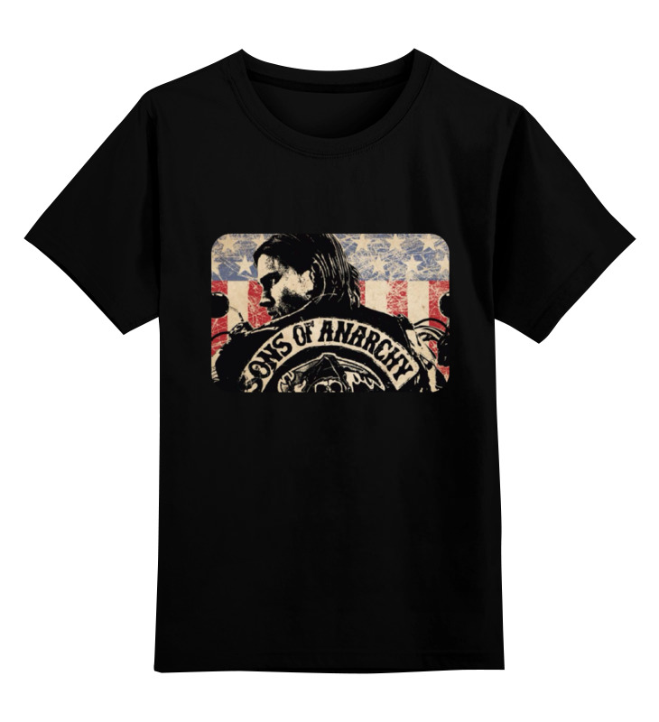 Детская футболка классическая унисекс Printio Sons of anarchy - black майка классическая printio sons of anarchy t shirt