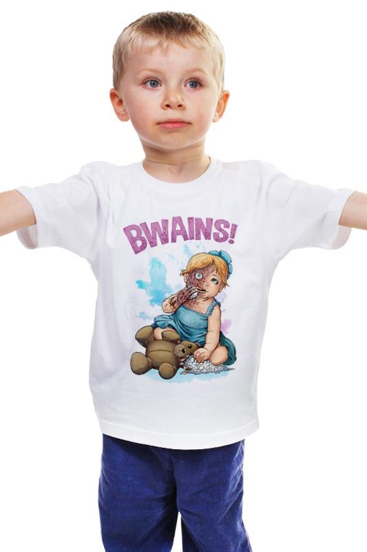 Детская футболка классическая унисекс Printio Bwains! детская футболка классическая унисекс printio мачете