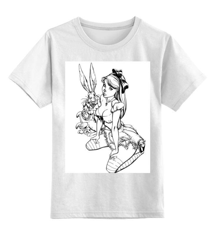 Детская футболка классическая унисекс Printio Алиса в стране чудес детская футболка классическая унисекс printio алиса