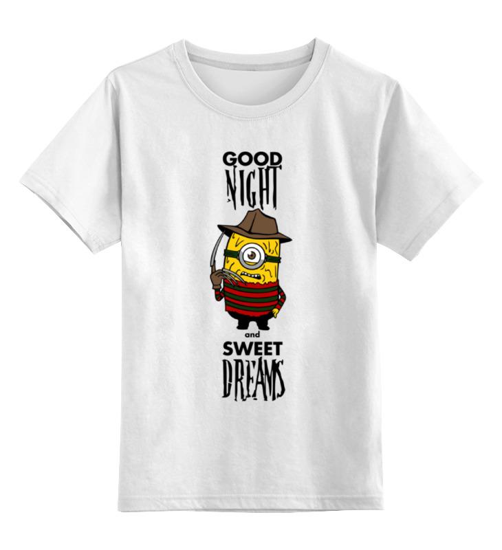 Детская футболка классическая унисекс Printio Миньон фредди крюгер детская футболка классическая унисекс printio девушка фредди крюгер