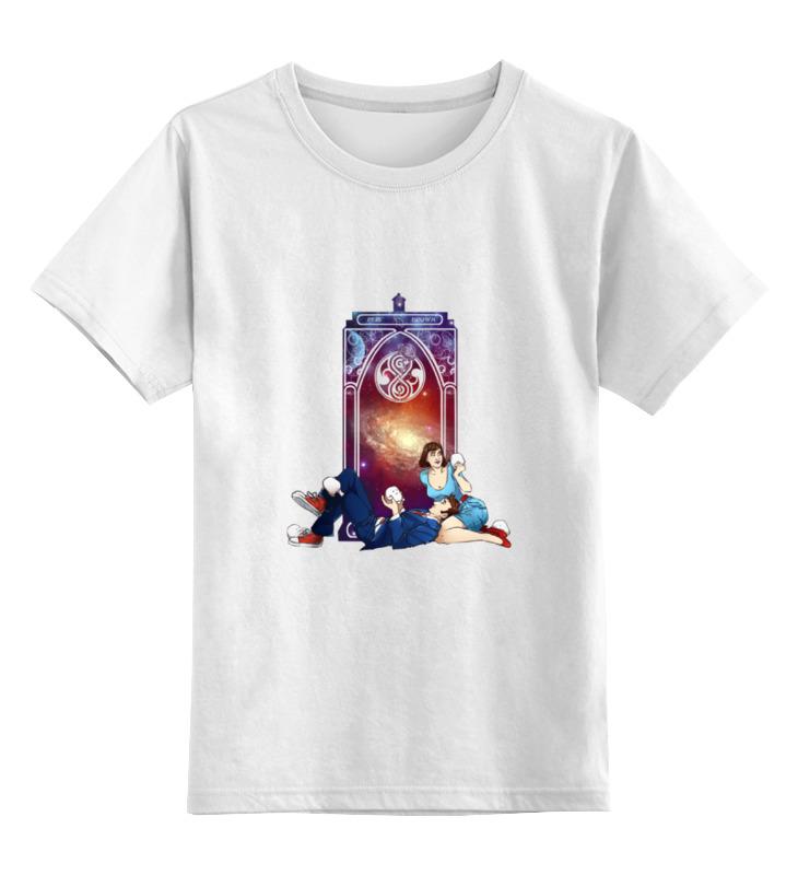 Детская футболка классическая унисекс Printio Десятый доктор и пери (tenth doctor and peri) футболка wearcraft premium printio десятый доктор tenth 10th doctor