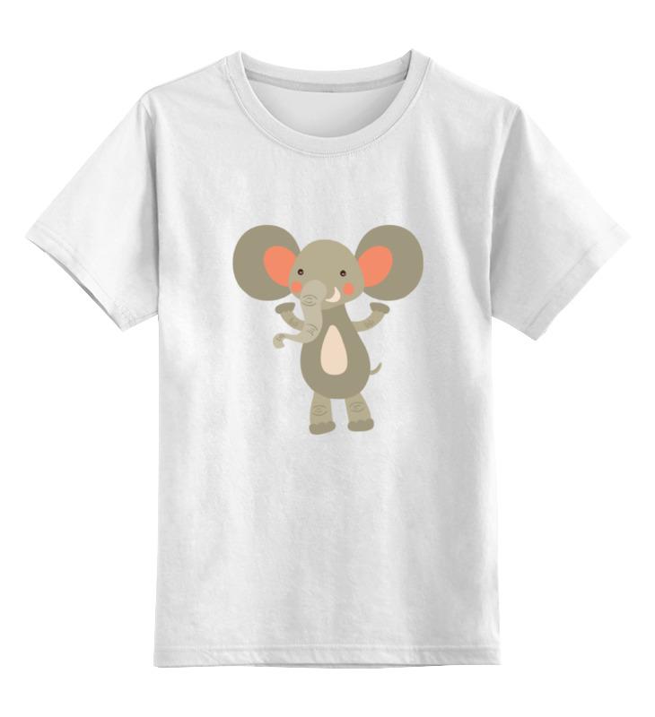 Детская футболка классическая унисекс Printio Весёлый слоник детская футболка классическая унисекс printio слоник