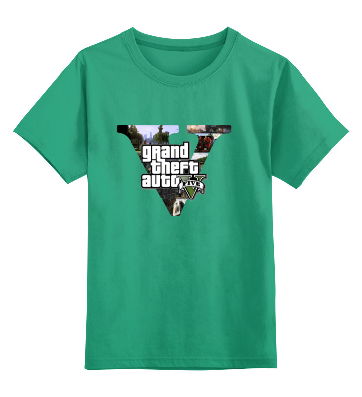 Детская футболка классическая унисекс Printio Gta 5