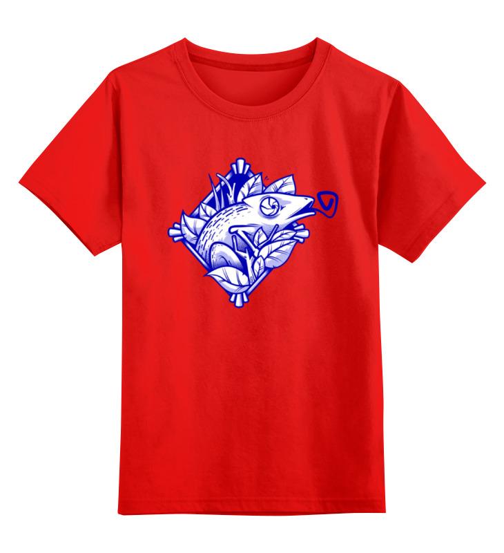 Детская футболка классическая унисекс Printio Игуана smoby детская горка king size цвет красный