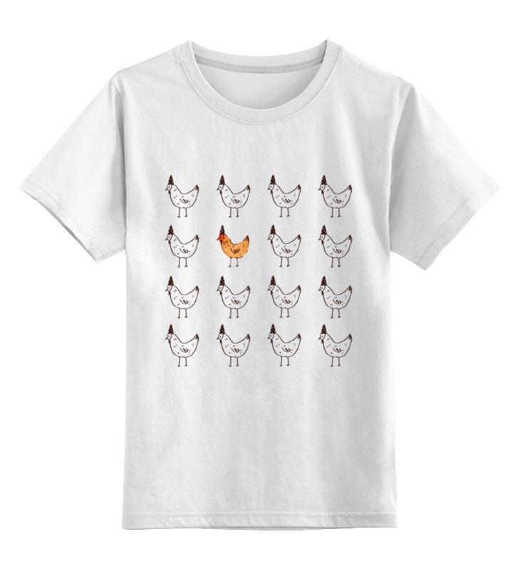 Детская футболка классическая унисекс Printio Курочки