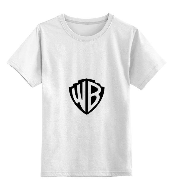 Детская футболка классическая унисекс Printio Логотип wb
