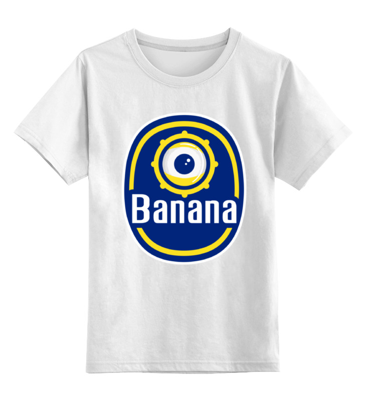 Детская футболка классическая унисекс Printio Миньон (банана) цена и фото