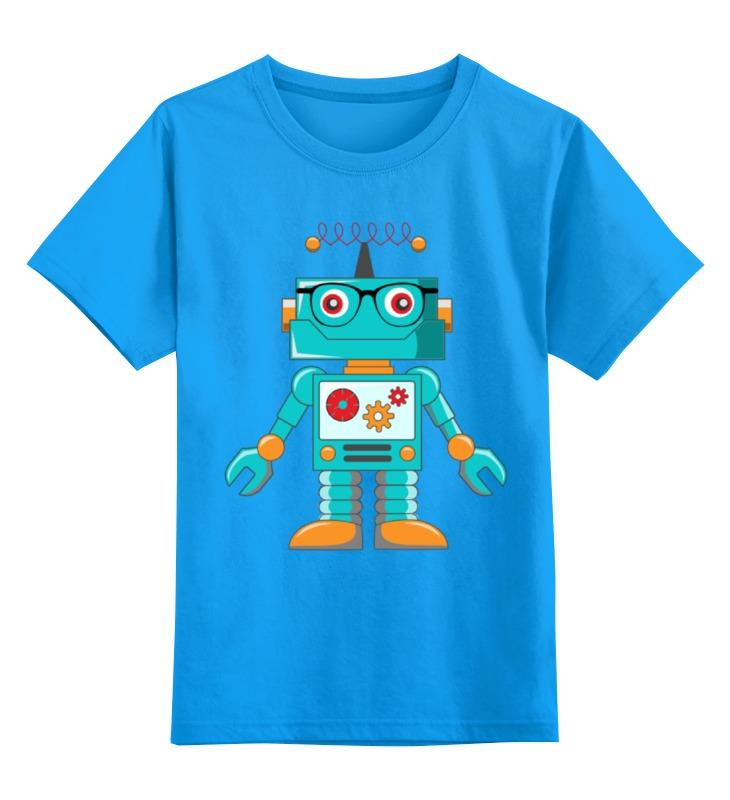 Детская футболка классическая унисекс Printio Робот