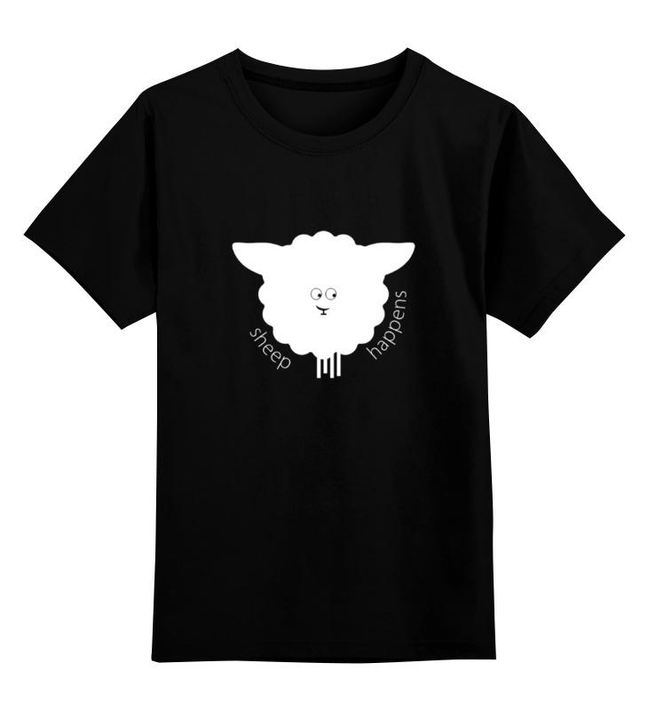 Детская футболка классическая унисекс Printio Round sheep black футболка классическая printio sheep on drugs