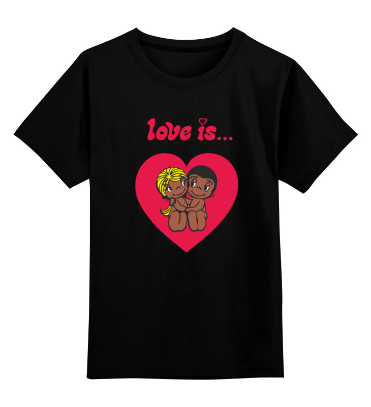 Детская футболка классическая унисекс Printio Love is... детская футболка классическая унисекс printio i love you beary much