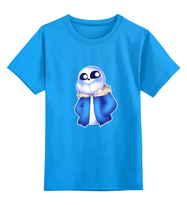 Детская футболка классическая унисекс Printio Санс из undertale. детская футболка классическая унисекс printio санс